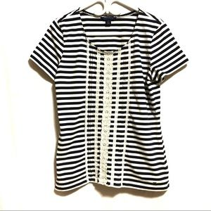 Tommy Hilfiger Blue and White Striped Tee
